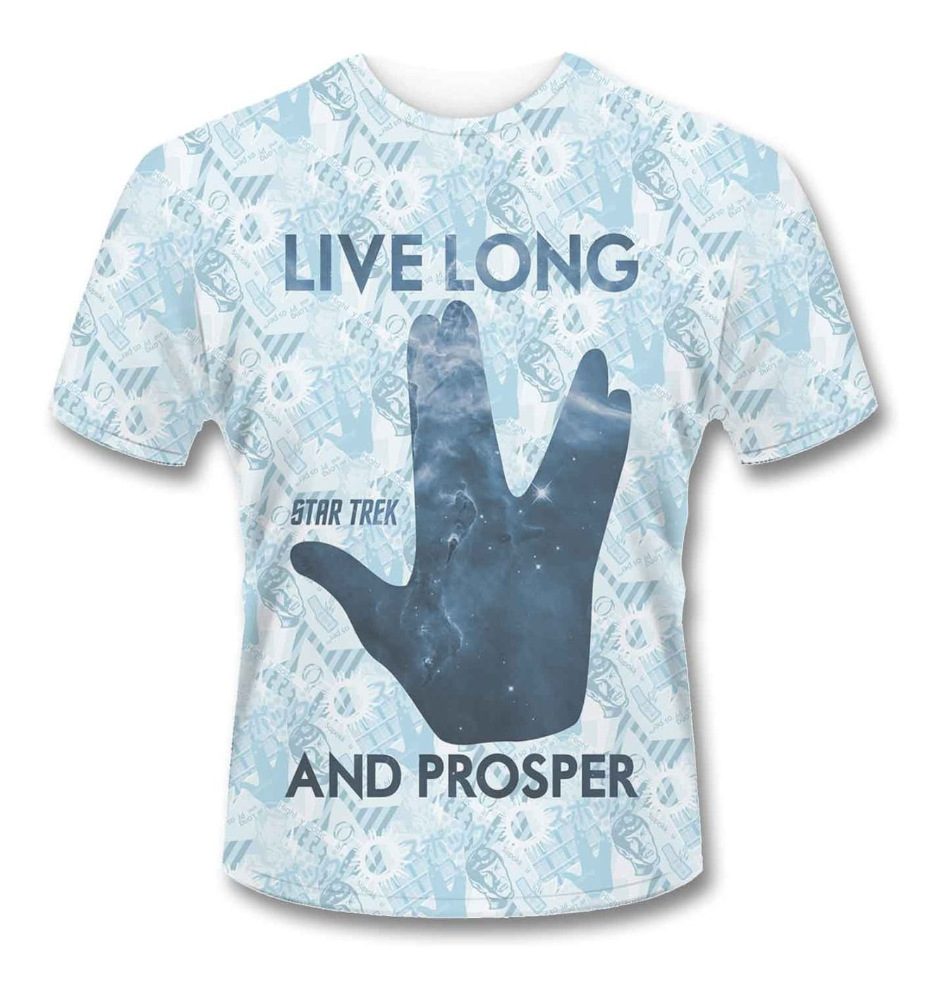Official Star Trek SubDye Live Long And Prosper Spock t-shirt