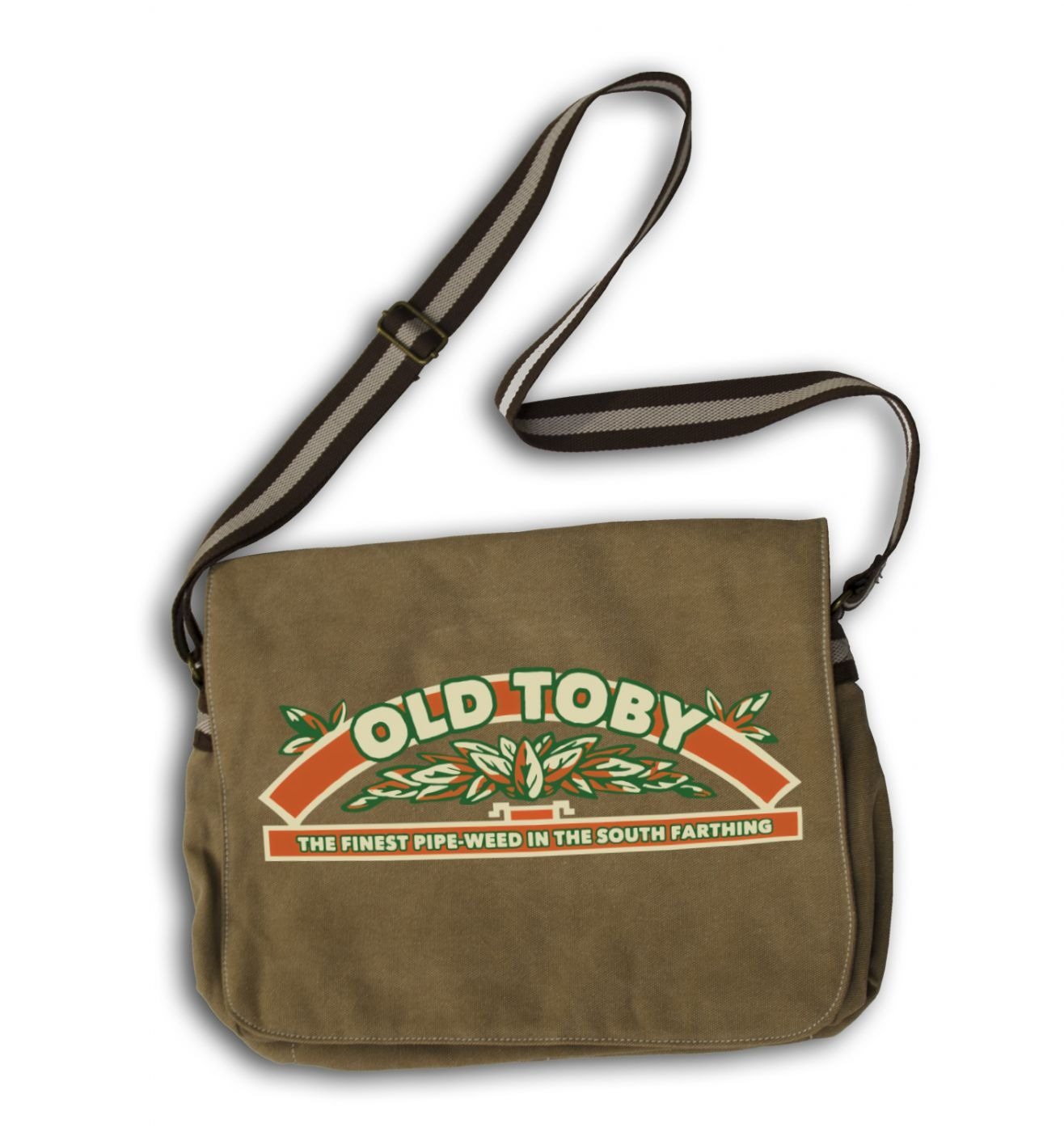 Old Toby Pipe Weed messenger bag
