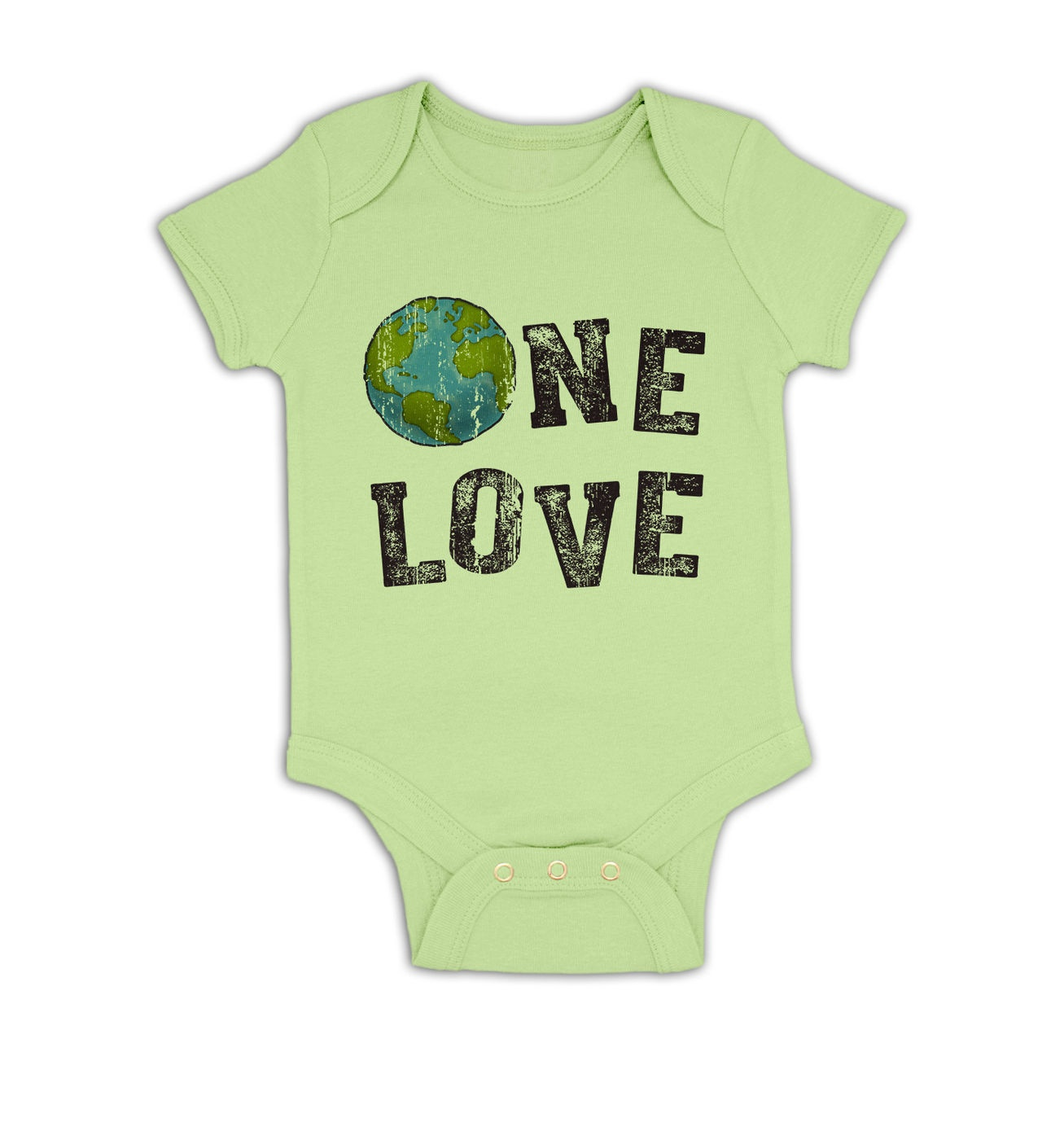 One Love (Earth) baby grow by Something Geeky