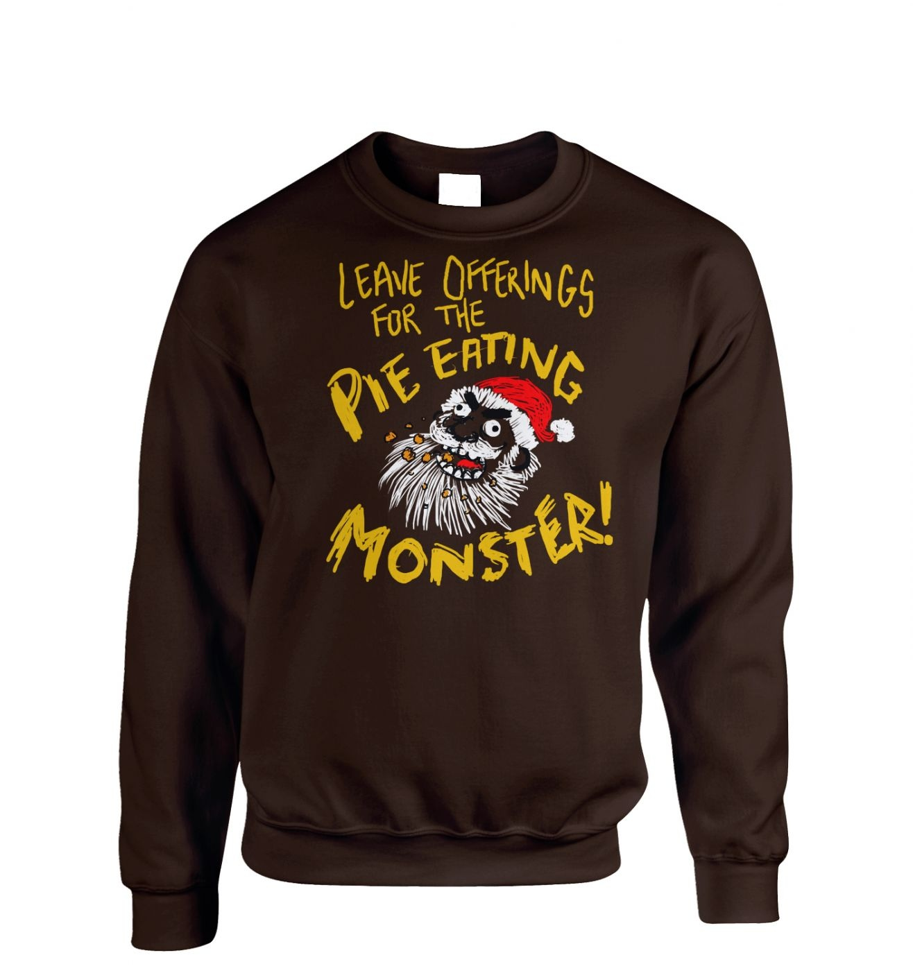 Pie Monster Adult Crewneck Sweatshirt