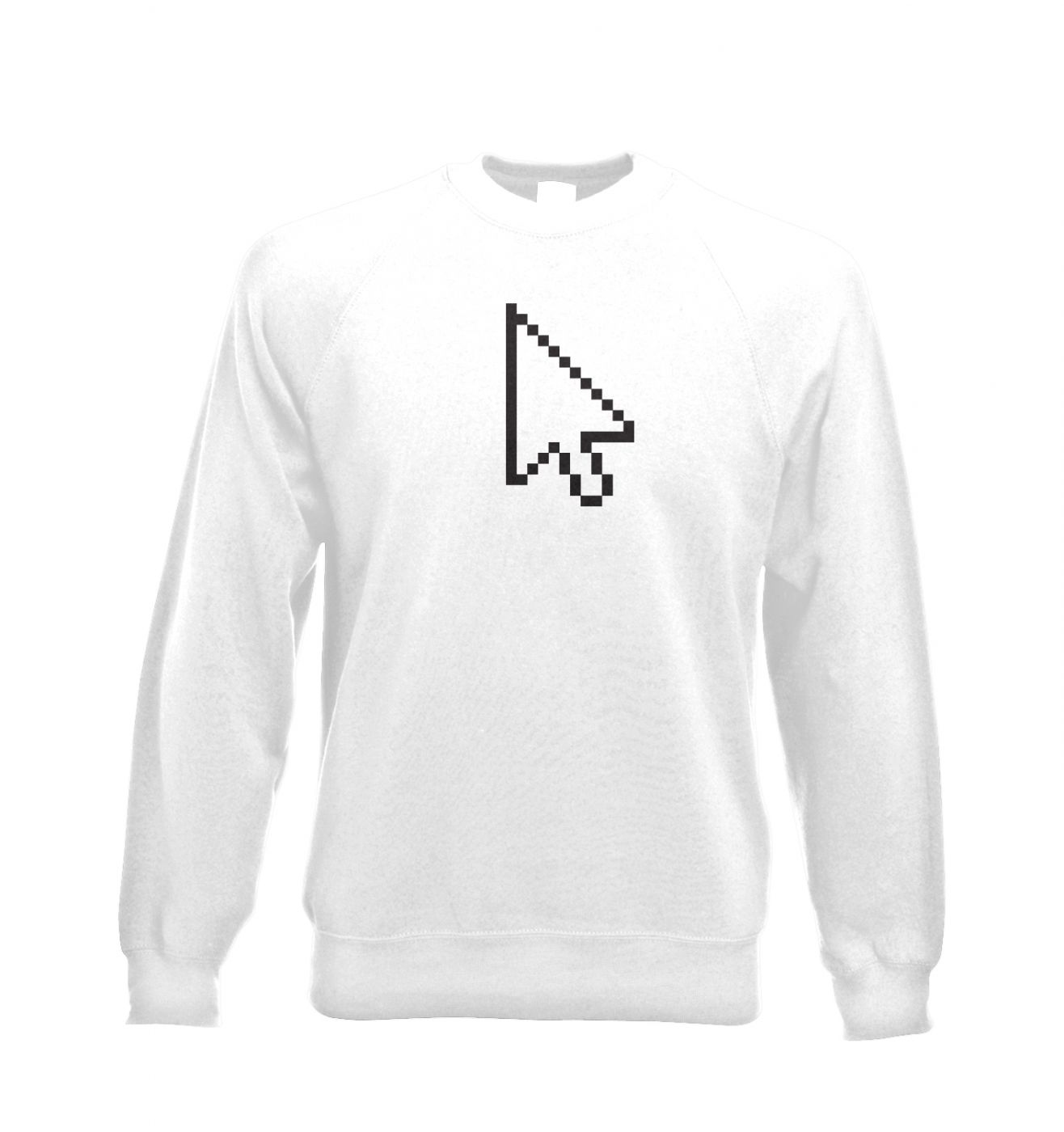 Pixelated Cursor Adult Crewneck Sweatshirt