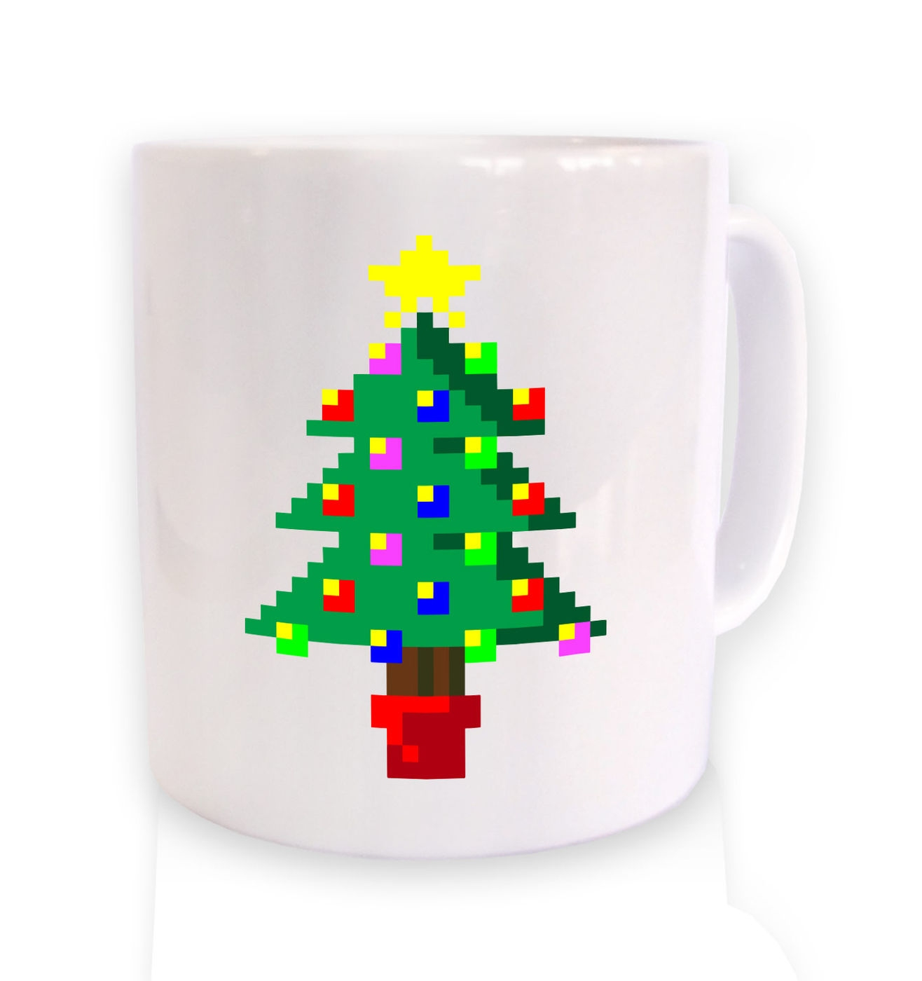 Pixellated Christmas Tree mug