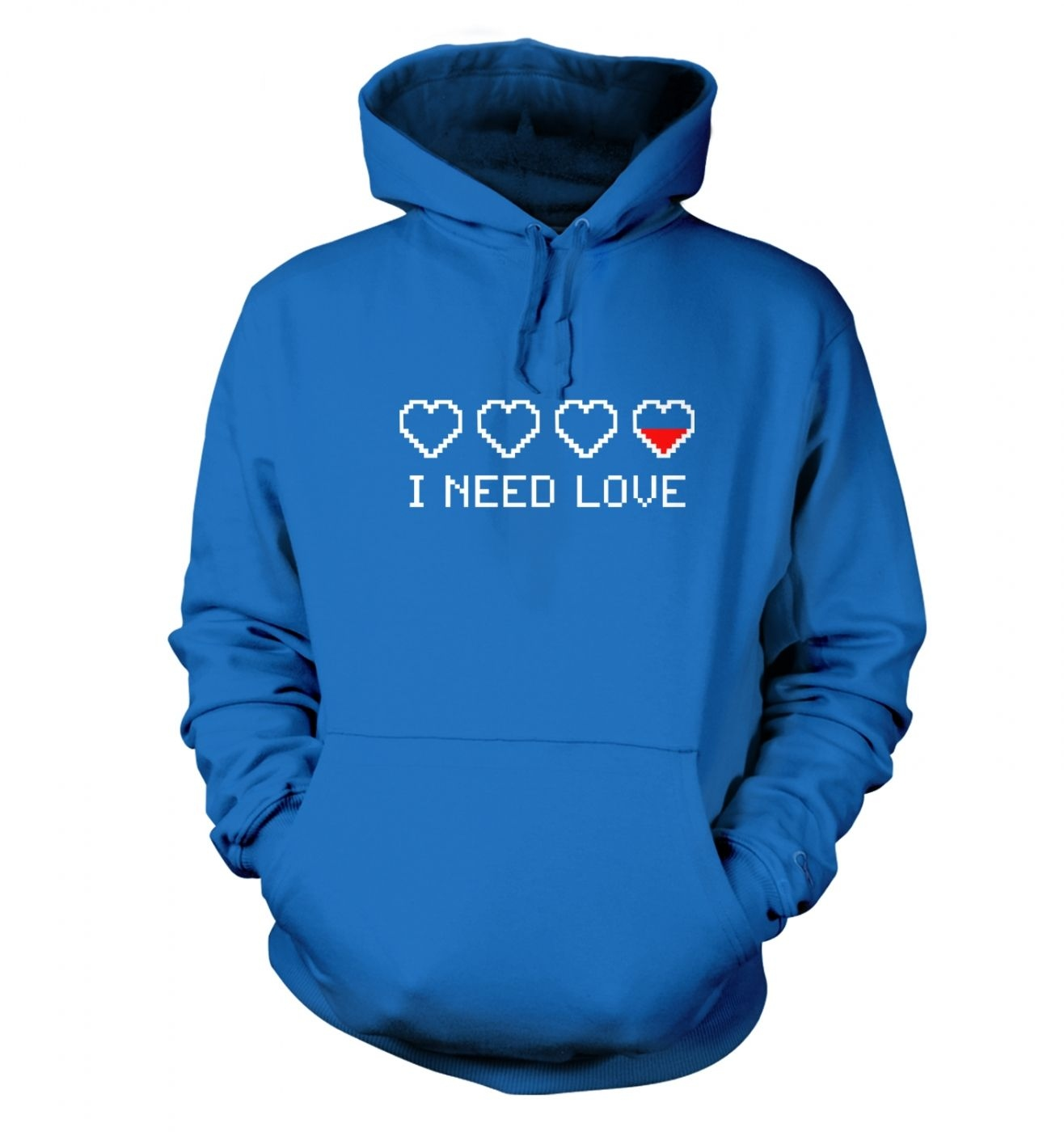 Pixellated I Need Love hoodie
