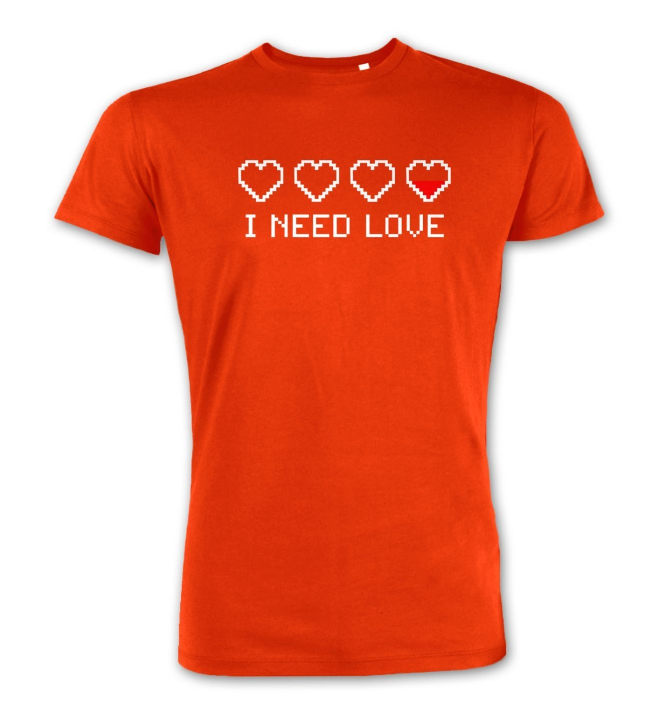 Pixellated I Need Love men's Premium t-shirt