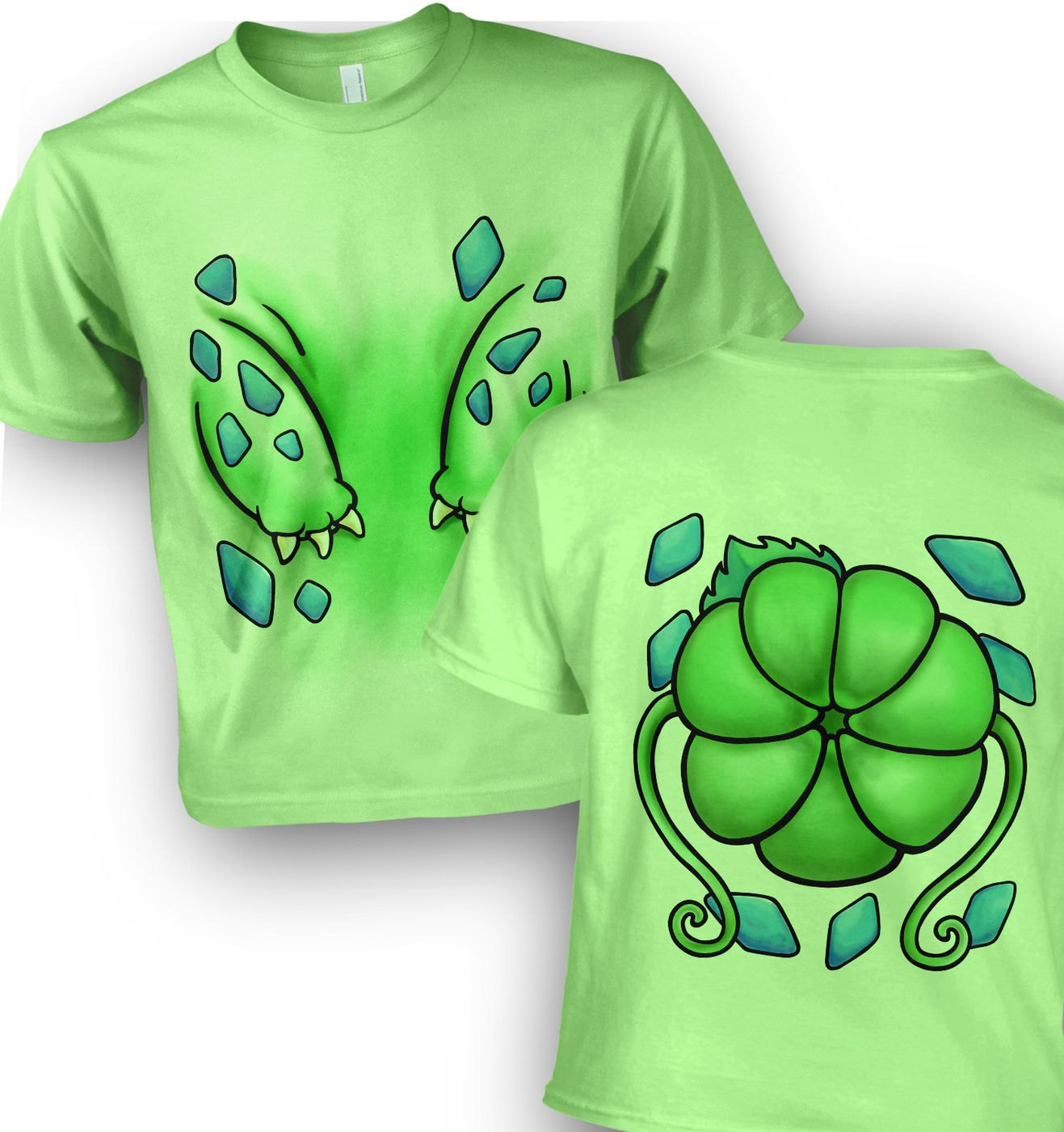 Plant Pocket Monster Costume kids t-shirt by Something Geeky