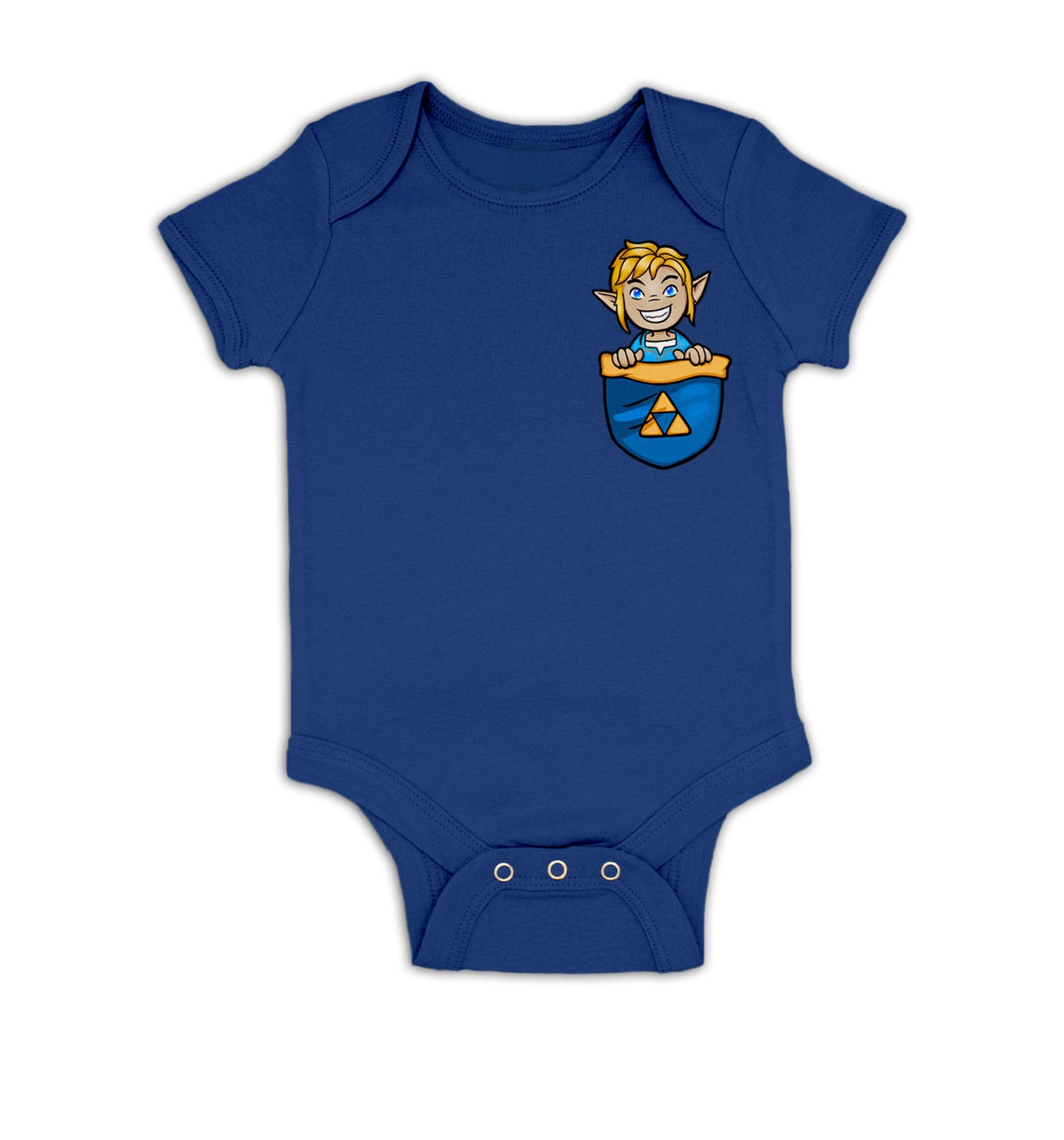 Pocket Hyrule Warrior (Blue) baby grow by Something Geeky