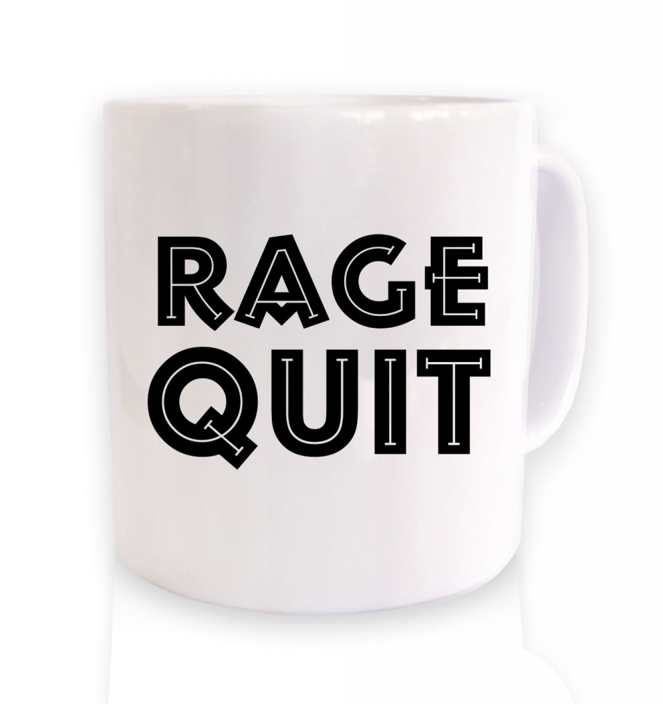 Rage Quit coffee ceramic coffee mug