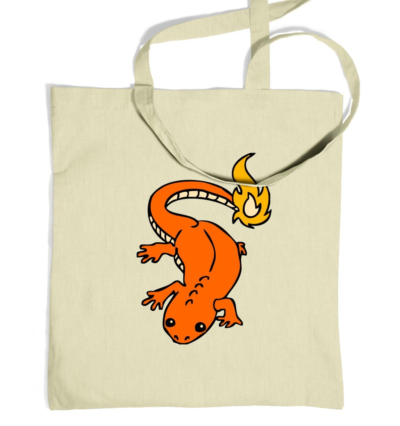 Real Life Charmander Tote Bag  - Inspired by Pokemon