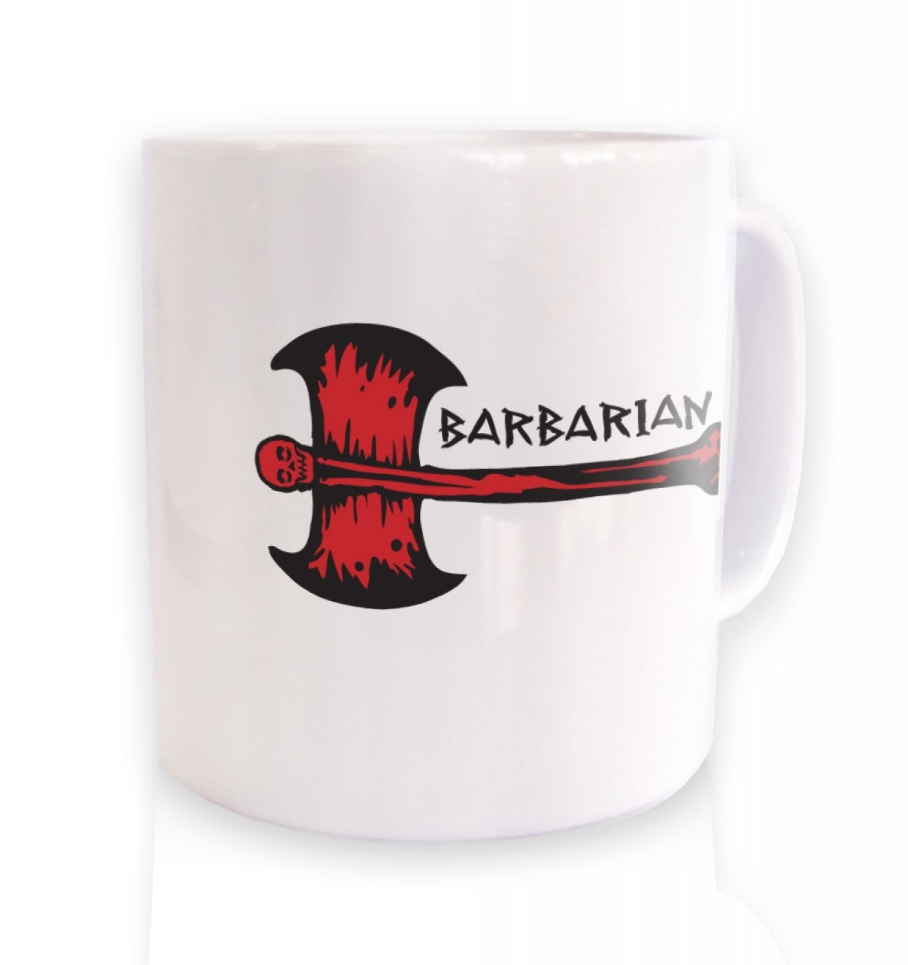 Red Barbarian Axe ceramic coffee mug