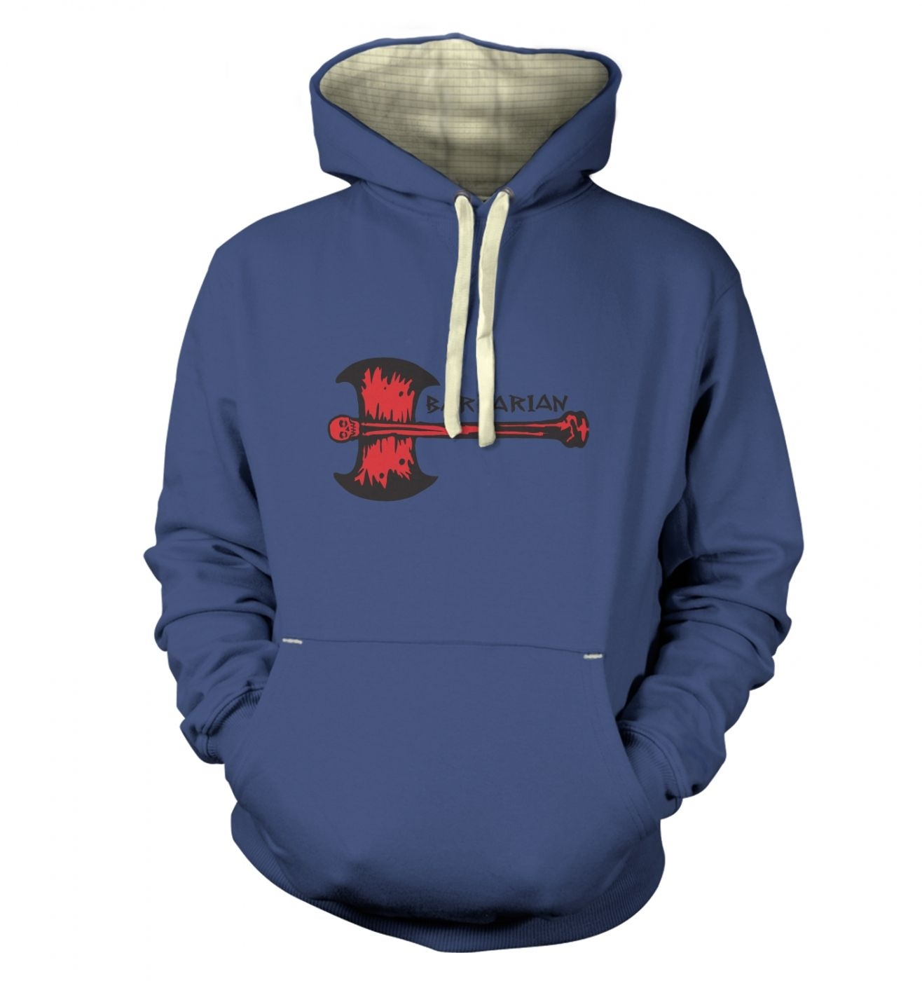 Red Barbarian Axe premium hoodie