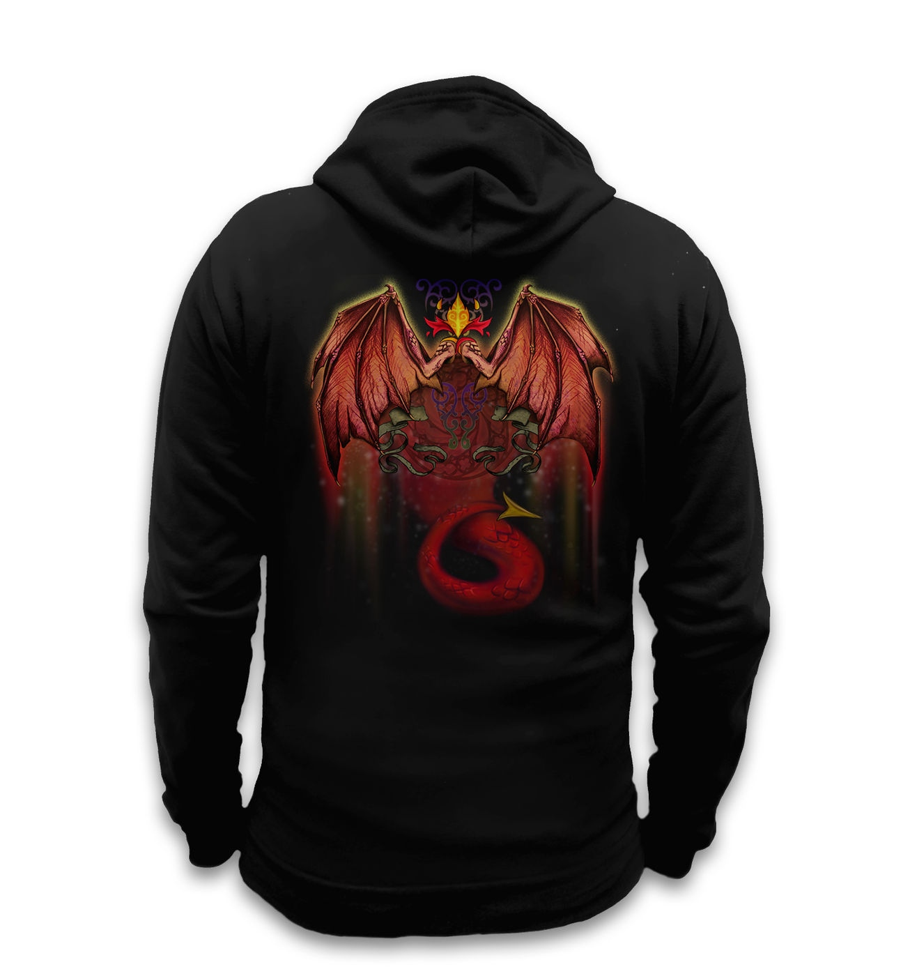 Red Dragon hoodie (with backprint)