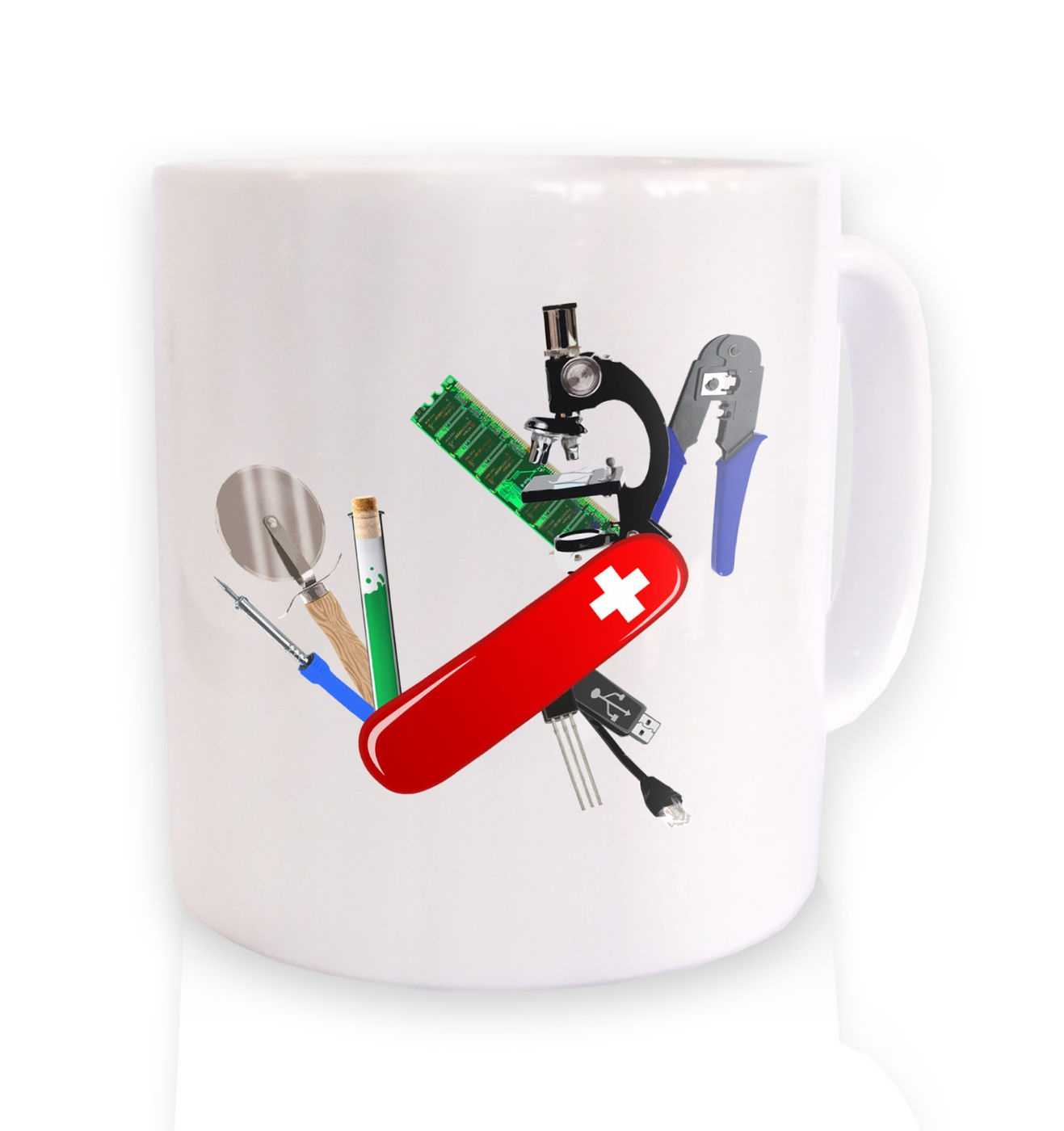 Science Army Knife mug by Something Geeky