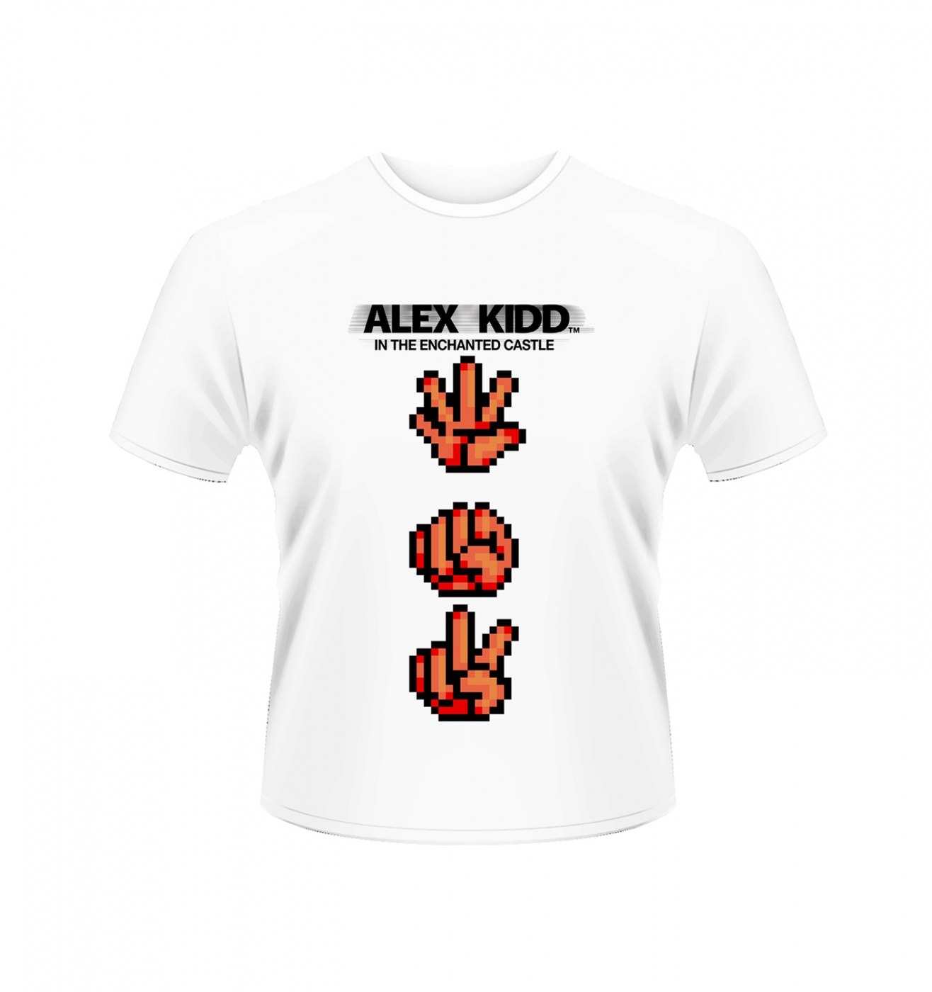SEGA Alex Kidd Rock Paper Scissors men's t-shirt - Official