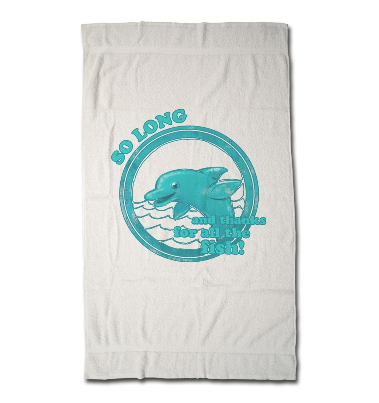 So Long And Thanks For All The Fish hand towel