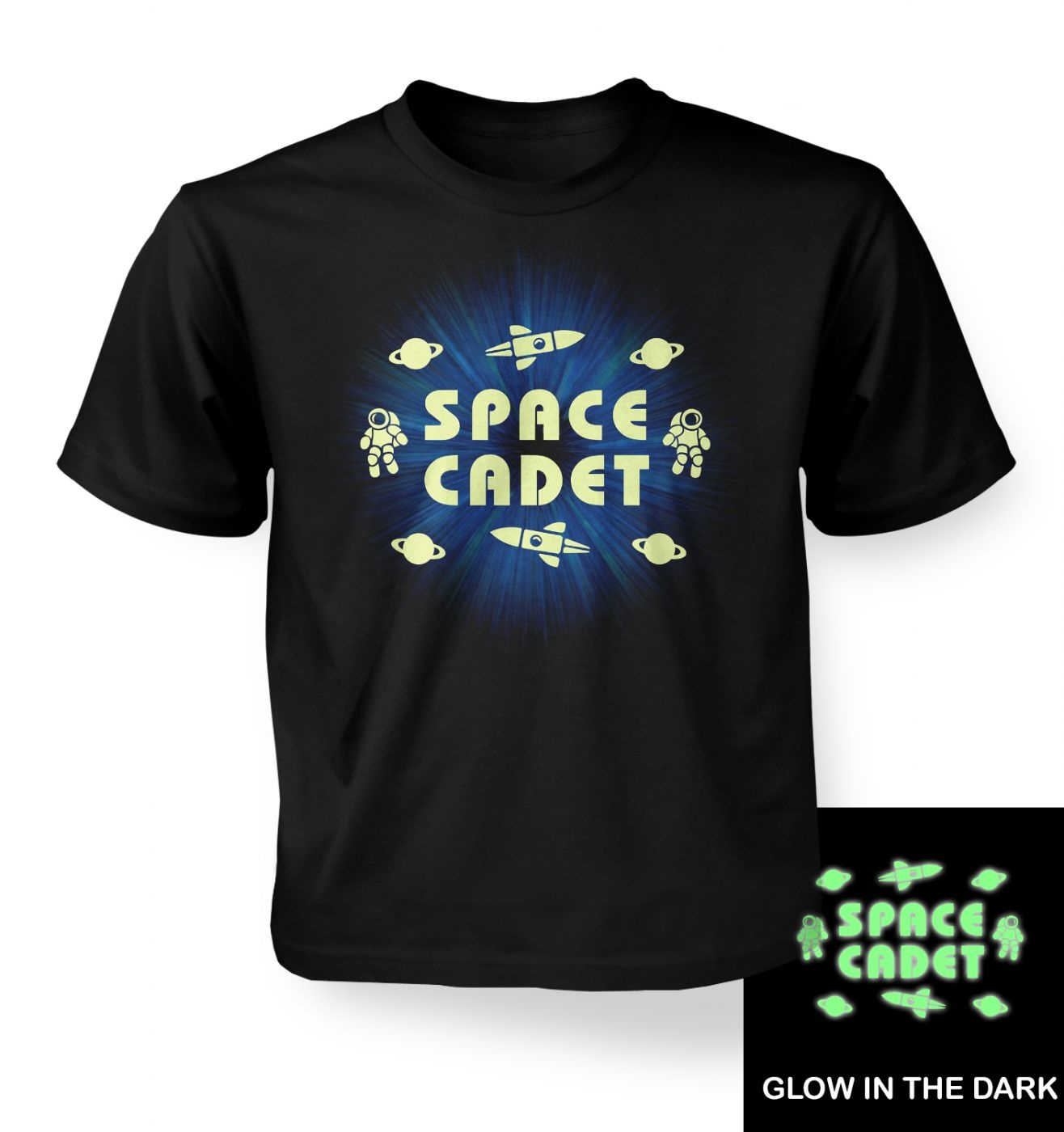 Space Cadet (hybrid glow in the dark) kids' t-shirt