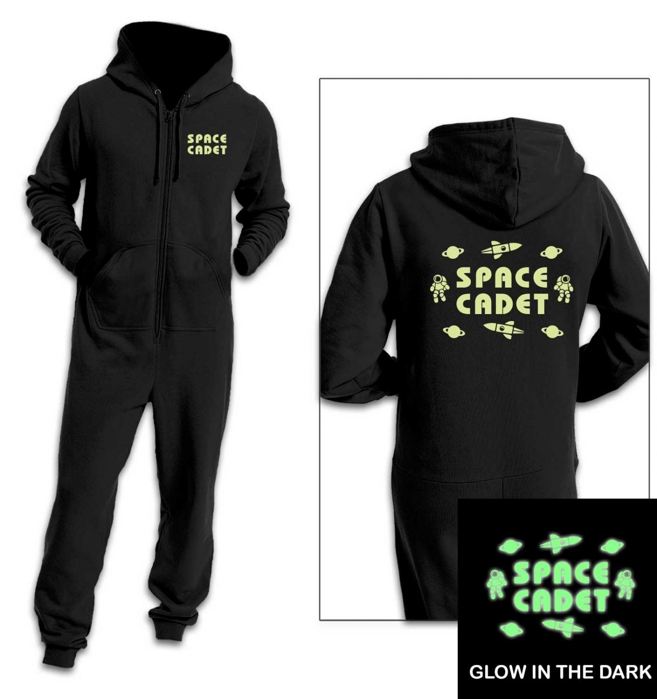 Space Cadet onesie (glow in the dark)
