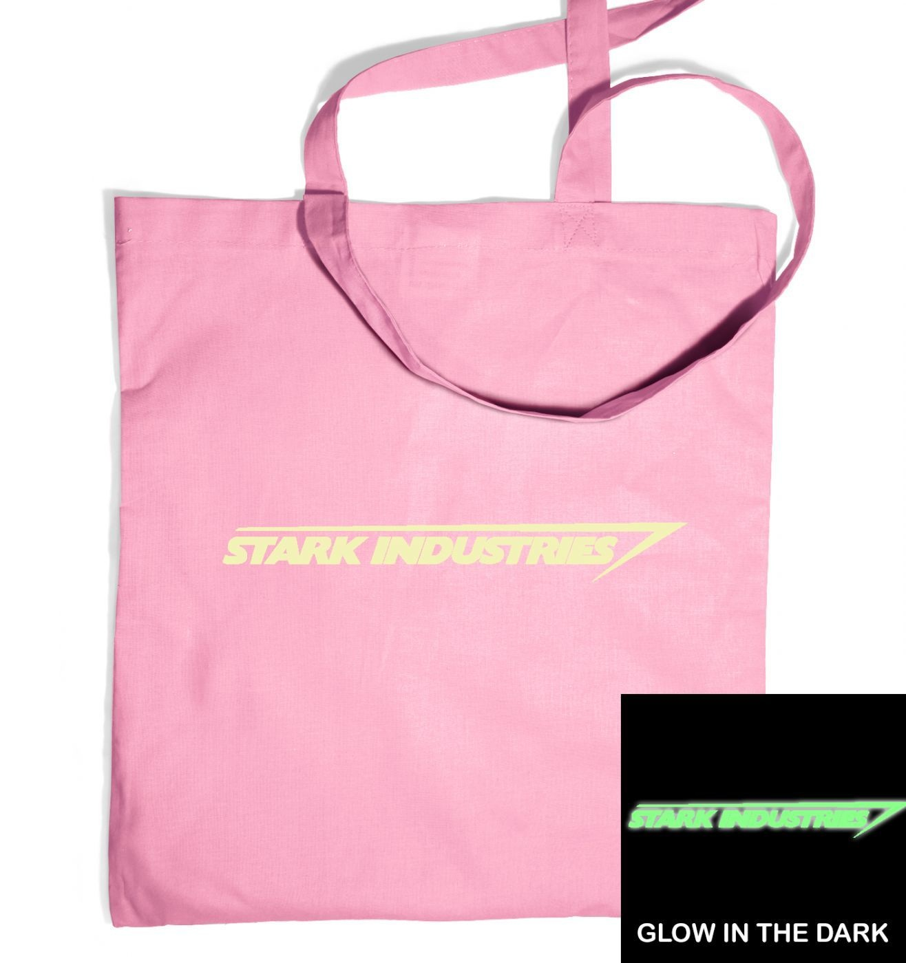 Stark Industries (glow in the dark) tote bag