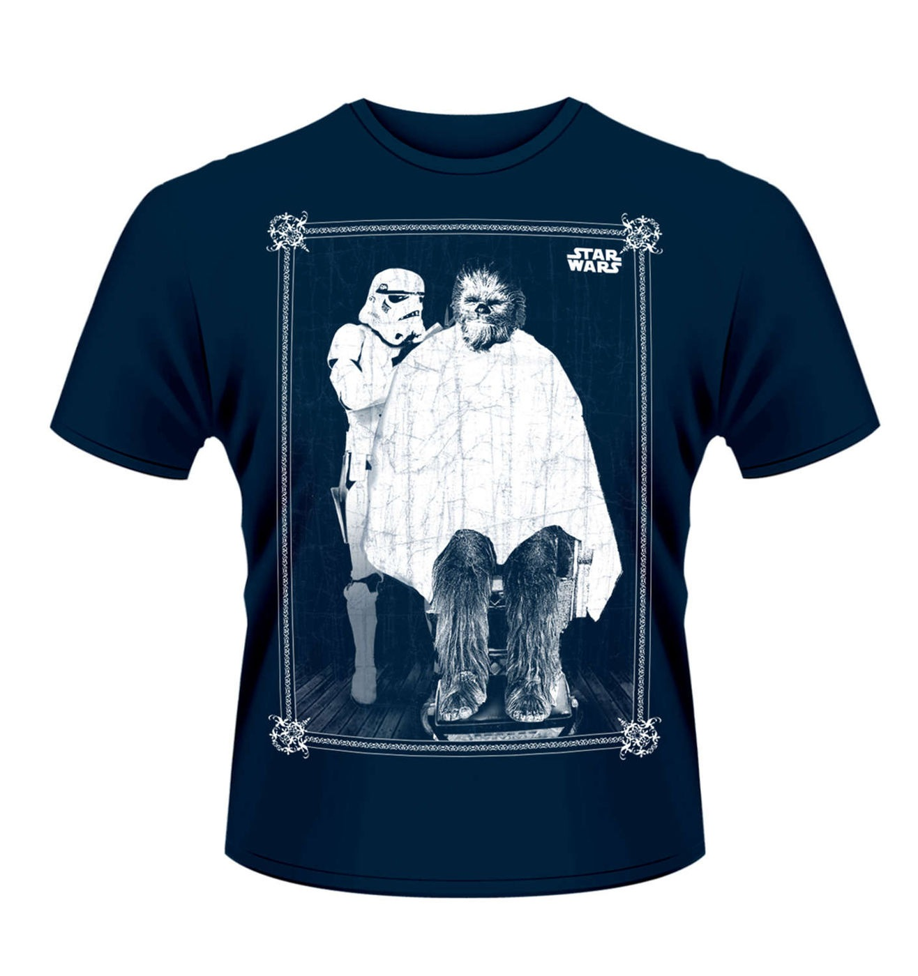 star wars chewbacca haircut t shirt official somethinggeeky. Black Bedroom Furniture Sets. Home Design Ideas