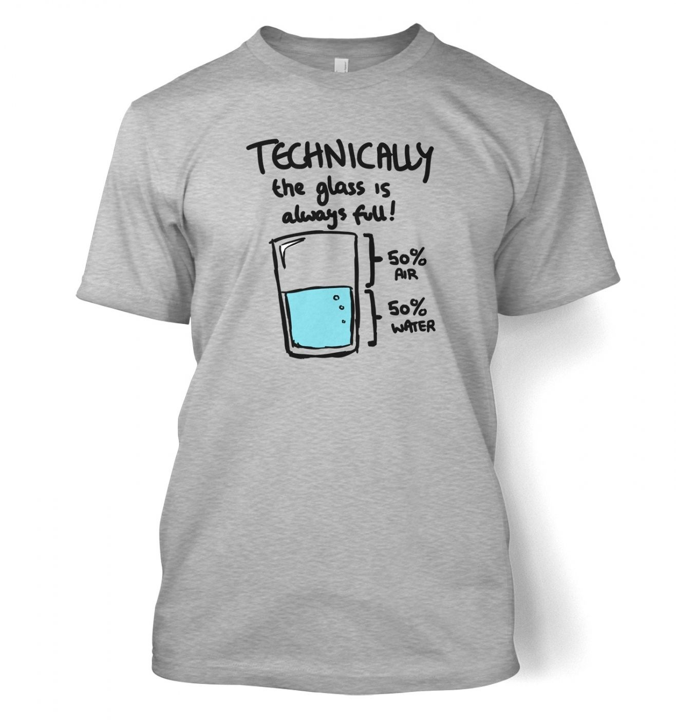 Technically The Glass Is Always Full men's t-shirt