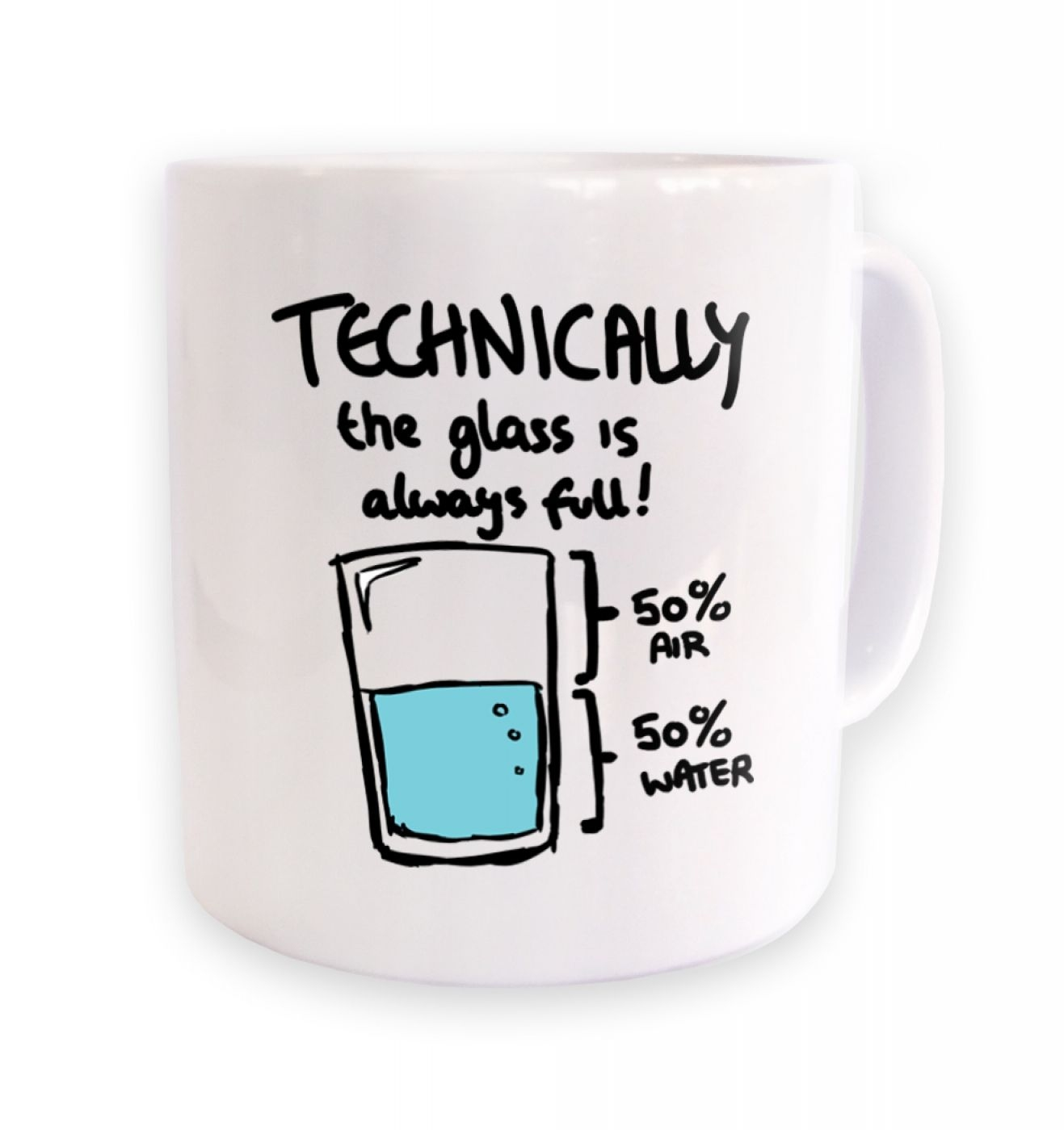 Technically The Glass Is Always Full mug