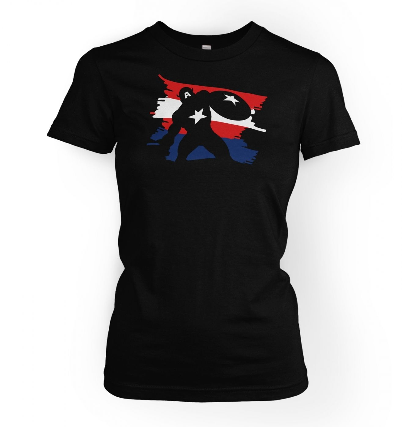 The Captain Womens T-shirt Inspired by Captain America & The Avengers