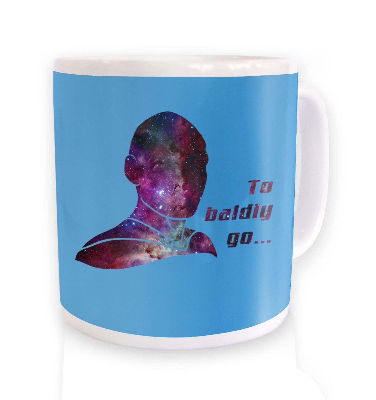 To BALDLY Go mug by Something Geeky