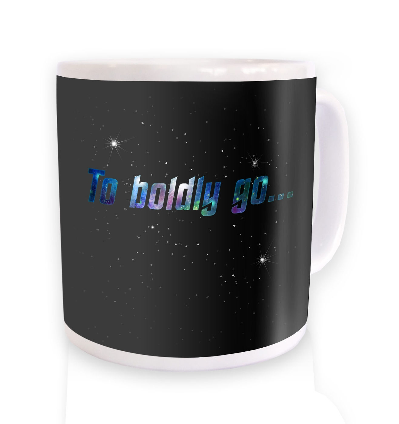To Boldly Go mug by Something Geeky