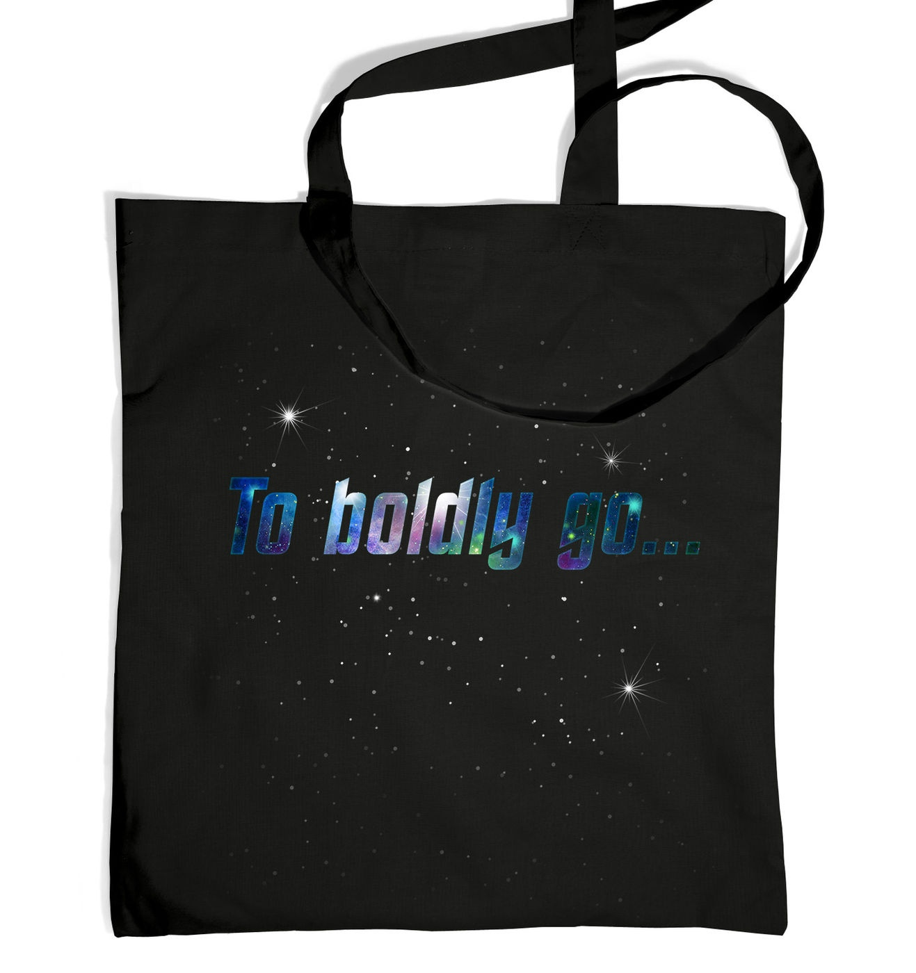 To Boldly Go tote bag by Something Geeky