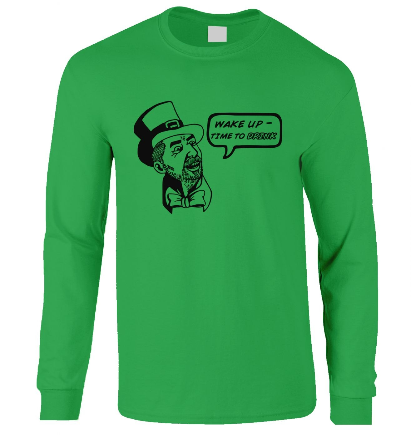 Wake Up Time To Drink long-sleeved t-shirt