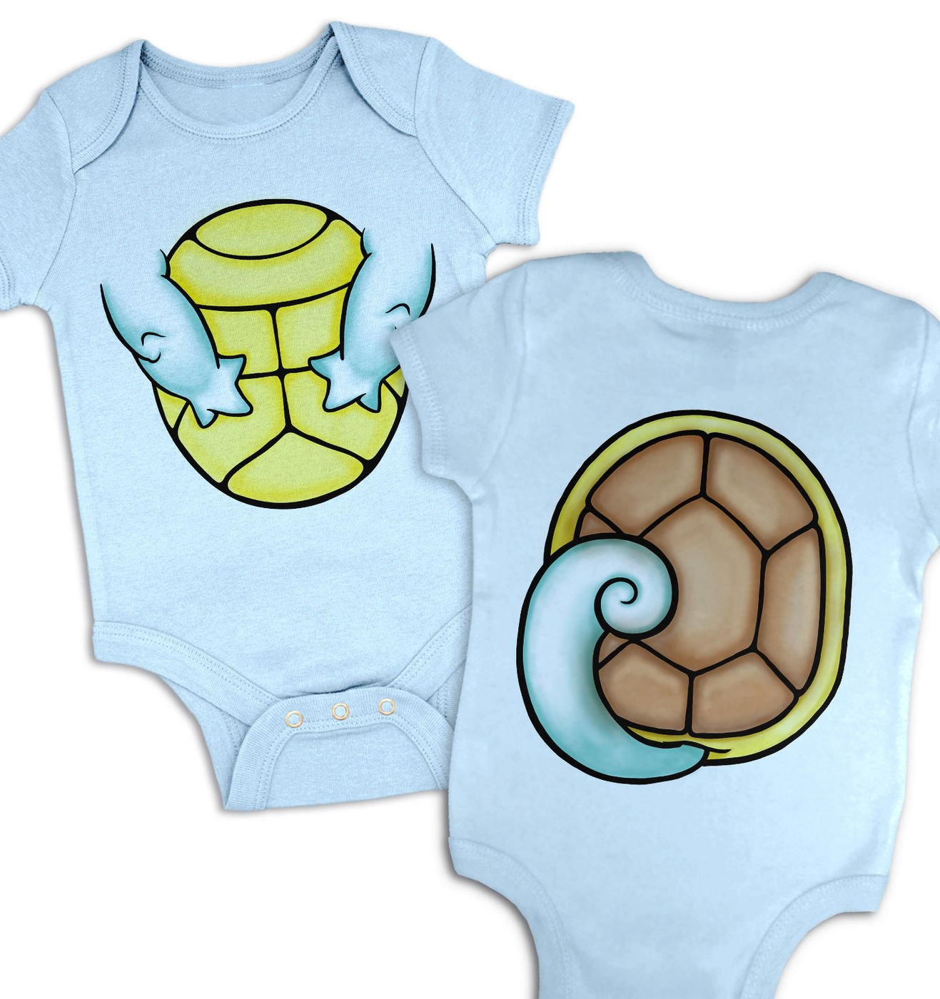 Water Pocket Monster Costume baby grow by Something Geeky