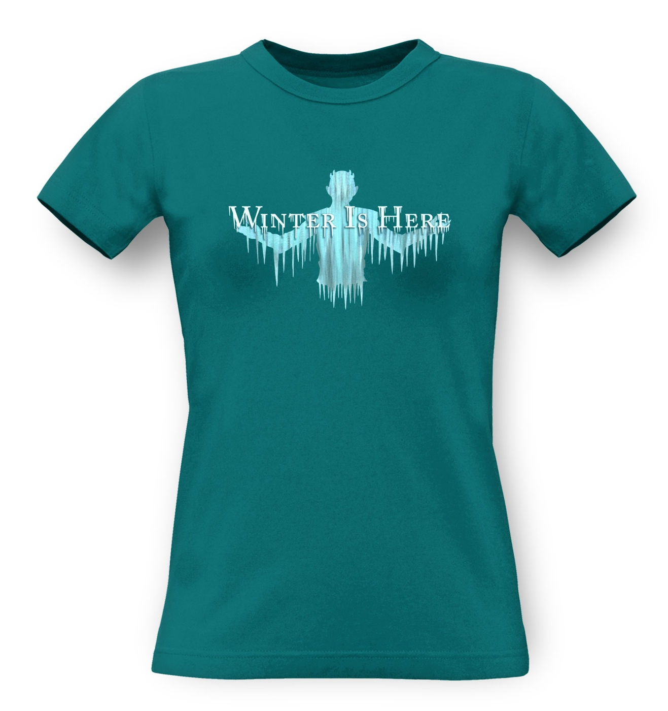 Winter Is Here classic womens t-shirt by Something Geeky