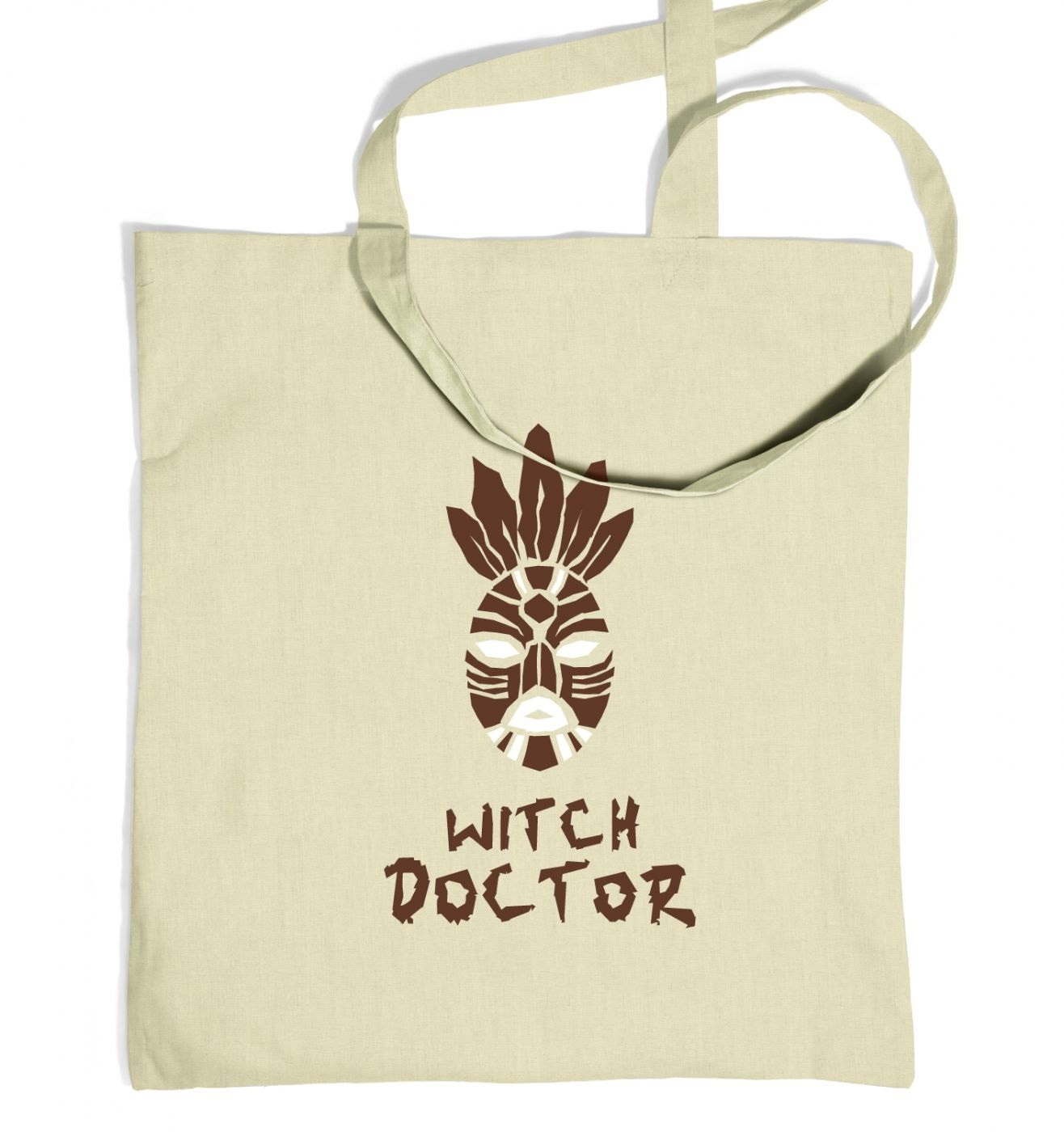 Witch Doctor Mask tote bag