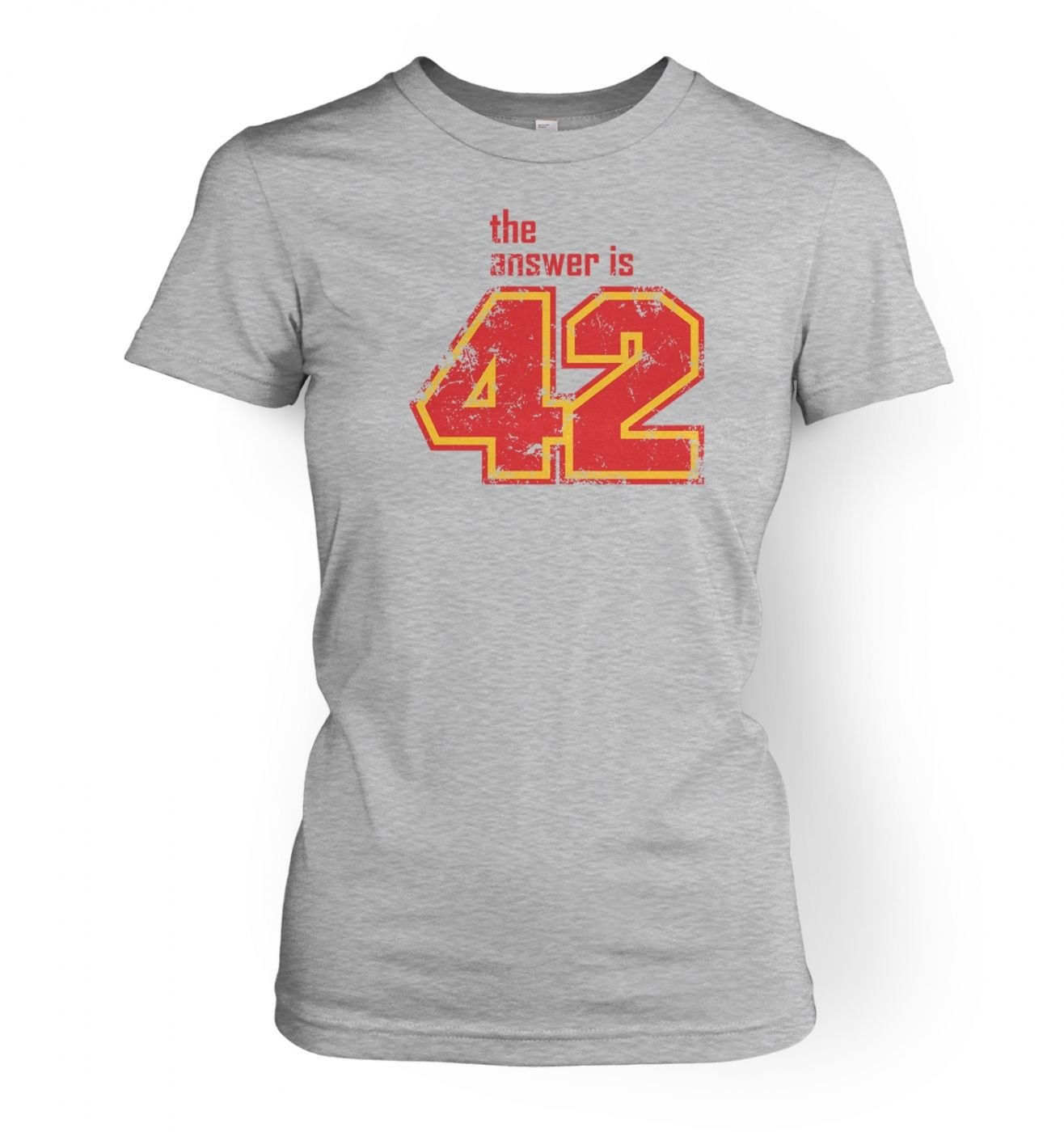The Answer Is 42 women's fitted t-shirt