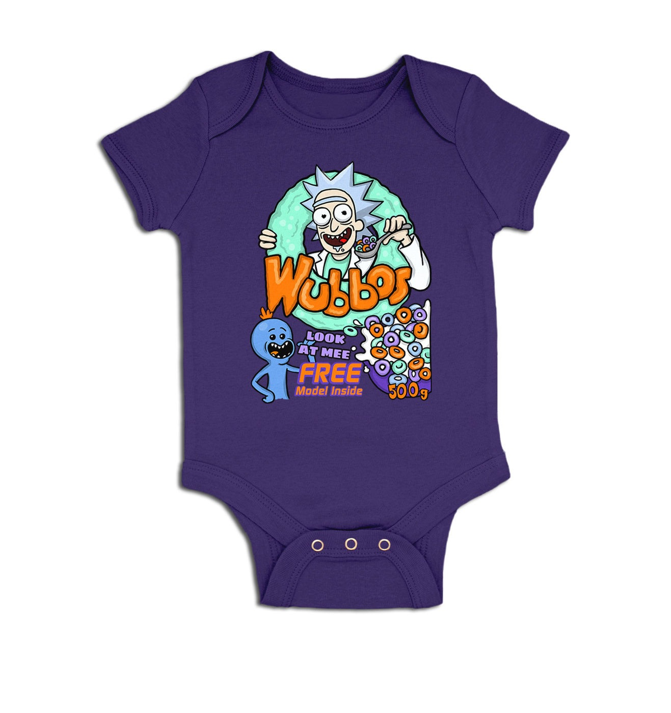 Wubbos Cereal baby grow by Something Geeky