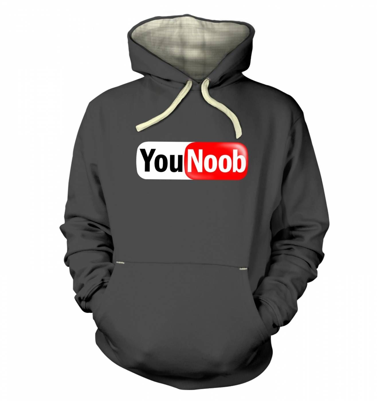 YouNoob (white background) hoodie