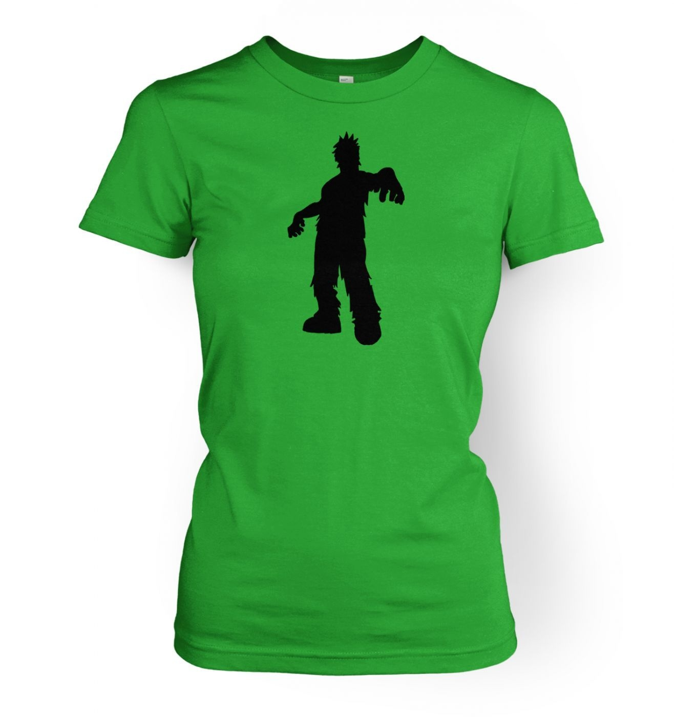 Zombie Silhouette women's fitted t-shirt