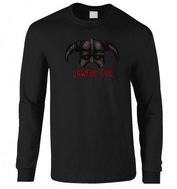 Lawful Evil long-sleeved t-shirt