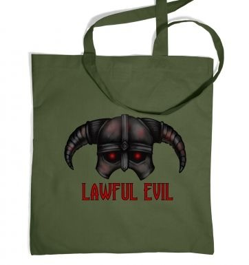 Lawful Evil tote bag