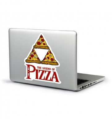 Legend Of Pizza laptop sticker