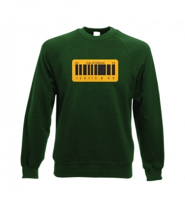 License Plate sweatshirt