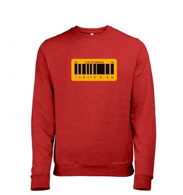 License Plate Mens Heather Sweatshirt