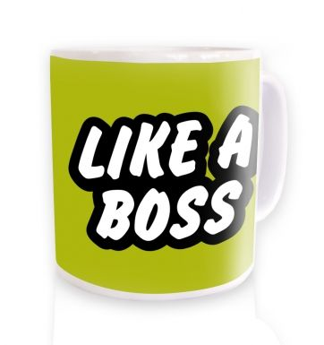 Like a Boss mug - lime green