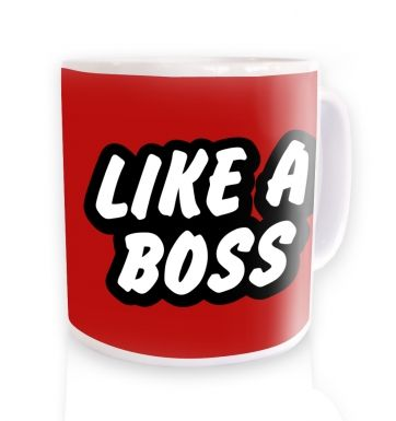 Like A Boss (red) ceramic coffee mug