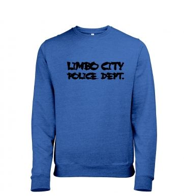 Limbo City Police Department men's heather sweater