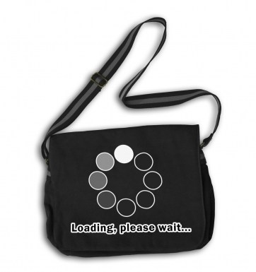 Loading Please Wait messenger bag