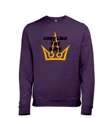 Long Live The King men's heather sweatshirt