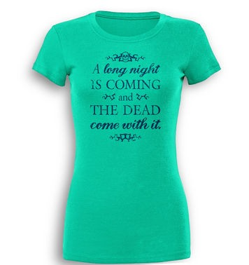 A Long Night premium womens t-shirt
