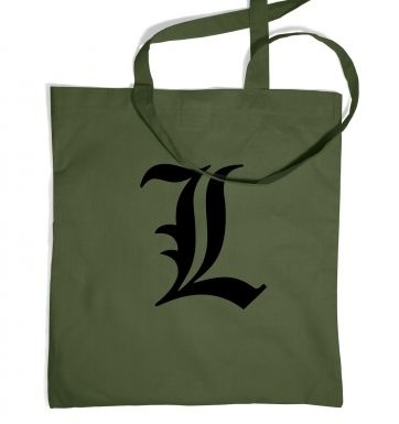 L Anime tote bag