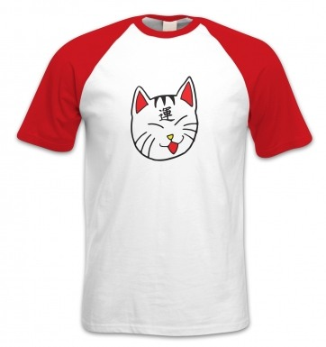 Lucky Cat short-sleeved baseball t-shirt