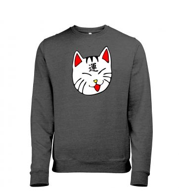 Lucky Cat Mens Heather Sweatshirt